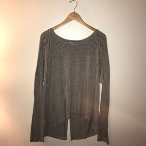Express One Eleven Open Back Long Sleeve Top